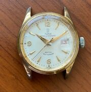 Very Rare Men's Tudor 7956 Oysterdate Gold Plated Watch