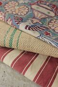 Vintage French Fabrics Antique Material Project Bundle Arts And Crafts + Linen