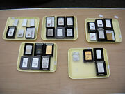 28 Vintage Zippo Lighters As Pictured