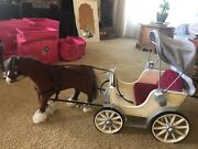 American Girl Doll Carriage And Horse