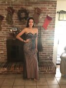 Jovani Prom Dress Never Worn Size 4 Fully Beaded Strapless Perfect Condition