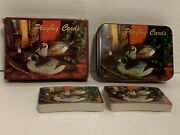 Vintage Duck Decoy Playing Card Set In Tin Box Hunting