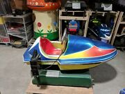 Speed Boat Racing Motor Boat Coin Operated Kiddy Kiddie Ride Amusement Antique