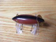 Immaculate Heddon Baby Crab Wiggler In Red Scale Painted By Dale Roberts