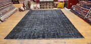 Rare 1940-1960s Vintage Wool Pile Over Dye Oushak Area Rug 5andrsquo10andrdquox9andrsquo