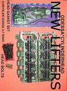 2 Jeep Dodge 4.7 Sohc Cylinder Heads 99-04 Gaskets And Bolts New Lifters