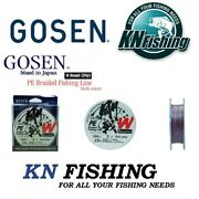 Gosen And039and039w8 Jiggingand039and039 Braid 8x 300m Multicolor Jigging Spinning Japan Quality