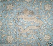 Scalamandre Chinoiserie Chiand039en Dragon Linen Print Fabric 10 Yards Sky Taupe