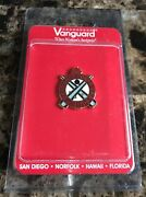 Vanguard Ordnance Corps Usa Military Insignia Gold And Red Pin, New
