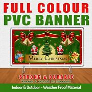 Christmas New Year Pvc Banner High Impact Advertising Reliable And Fast Service