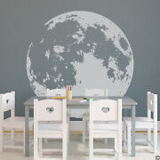 Full Moon Wall Decal - Pick A Lighter Vinyl Color For The Most Accuracy K739