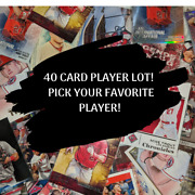 40 Card Lot Player Box - Inserts/parallels/rookies Pick Your Favorite Player Ct