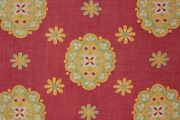 Fabric Vintage Cotton French Foulards Provence Christmas Colors 1950and039s Textile
