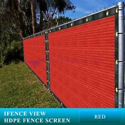 Ifenceview 10 Ft Width Red Fence Privacy Screen Mesh Awning Canopy Patio Top