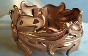 Renoir 50and039s Gorgeous Wide Copper Hinge Bracelet Stunning Small Wrist