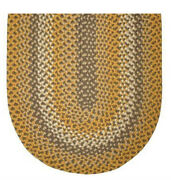 Colonial Gold Basket Weave Braided Area Rugs By Colonial Rug--many Sizes 808