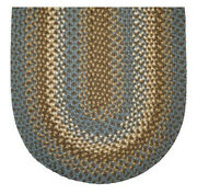 Dove Gray Basket Weave Braided Area Rug. Many Sizes Available 838