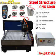 Metal Structure Cnc 6040 3/4axis 2.2kw Router Small Cnc Engraving Diy Machine