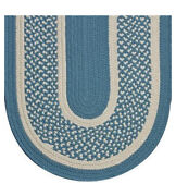 Williamsburg Blue And Cream Braided Area Rugs By Colonial Rug--many Sizes 121ex