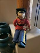 New With Tags Antique Vintage Wangs Fabric Soldier Nutcracker Doll Christmas 24