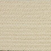Solid Cream Country Braided Area Rugs By Colonial Rug-many Sizes 110