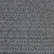 Solid Dove Gray Country Braided Area Rugs By Colonial Rug-many Sizes 138
