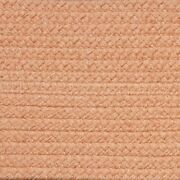Solid Peach Braided Area Rugs By Colonial Rug-many Sizes 126