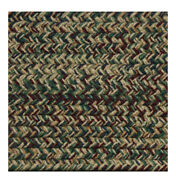 Burgundy Blue Green Camel Braided Area Rugs By Colonial Rug--many Sizes 464