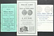 Lot Of 3 Old Coin And Currency Price Lists And Buying Catalogue Hesslein Mehl