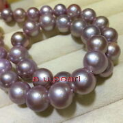 Aaaaa Long 2013-15mm Natural South Sea Pink Purples Pearl Necklace 14k Gold