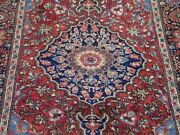 Authentic Antique 1880s Floral Saroukk 3and0394 X 5and039 Hand-knotted Wool Oriental Rug