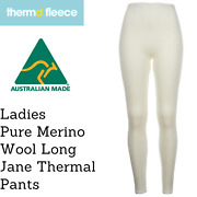 Womenand039s Pure Merino Wool Knit Long Janes Thermal Underwear Thermals Pants