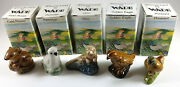Wade Whimsie Land Set 5 British Wildlife 1987 Complete Set Of 5 In Boxes