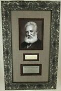 Alexander Graham Bell Telephone Inventor Autograph Display Jsa Authenticated