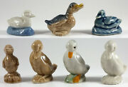 Wade Ducks Group Of 7, Whimsie, Red Rose Tea, Party Crackers 1972-01