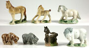 Wade Horses Group Of 7, Whimsie, Red Rose Tea, Party Crackers 1971-01