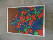 George Holt 1924 - 2005 Oil On Board Animal Crackers Abstract Animals 1970