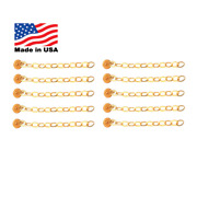 Gold Button Swivel And Chain Dental Impacted Cuspid Eruption Appliance Quantity 10