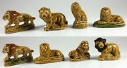 Wade Lions's Group Of 8, Whimsie, Red Rose Tea, Party Crackers 1973-1998