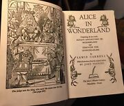 Alice In Wonderland And Through The Looking Glass Book Vintage 1957