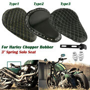 Leather Motorcycle 3 Spring Driver Solo Seat Bracket For Harley Chopper Bobber