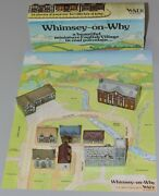 Wade Whimsey On Why Set 1, 1980 With Orginal Box And Display Card 8 Buildings