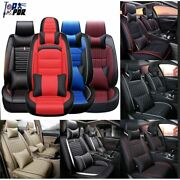 Luxury Car Seat Covers Set Pu Leather Cushion 5-sits Universal Car Accessories