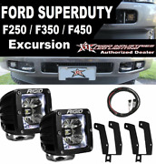 Rigid Radiance Pod White Light And Fog Light Kit And Harness 99-16 Ford F250/f350
