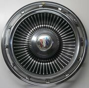 1963 Buick Lesabre Turbin Style 12 Slot 15 Inch Hubcaps Wheel Covers Vintage