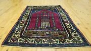 Exquisite Vintage 1950-1960and039s Wool Pile 3and0393andtimes 5and039and039 Yahyali Prayer Rug