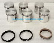 Chevy Chevrolet Gm 216ci 1941-53 Car+truck Cast Pistons+rings Set/6 New In Box