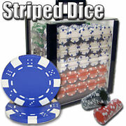 Texas Holdem Dice Poker 1000ct Acrylic Case And Trays And 36x72 Playing Felt Combo
