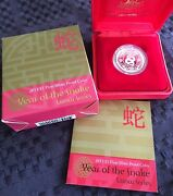 2013 Royal Australian Mint Silver Proof 1 Coin - Lunar Year Of Snake