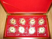 2014 --china 8 Gold Plated Medallion-8 Medals Together--year Of Horse
